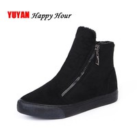 2018 Winter Snow Boots Women Winter Shoes Zip Warm Plush for Cold Winter Fashion Women's Boots Sweet Ladies Brand Ankle Botas