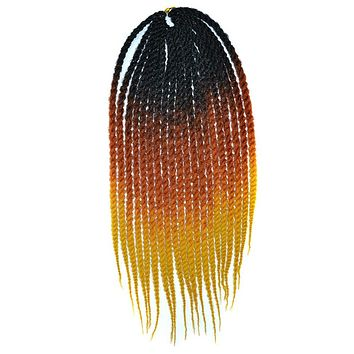 Afro Wig African Twisted Braid Gradient Ramp