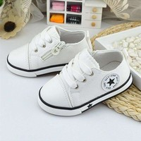 Baby  Boys Breathable Canvas Sports Shoes