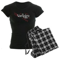 The Vampire Diaries red white Women's Dark Pajamas on CafePress.com