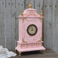 Pink French provincial clock