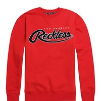 Young & Reckless Big R Script Chenille Crew Fleece - Mens Hoodie - Red