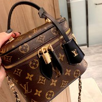 LV new classic old flower large capacity cosmetic bag vegetable basket handbag messenger bag