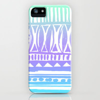 seafoam tribal print iPhone Case | Society6
