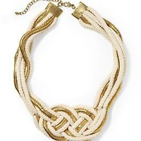 Hive & Honey Braided Rope and Metal Necklace | Piperlime