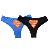 Women Sexy Batman G-String Thongs Lingerie Underwear Briefs Panties Knickers