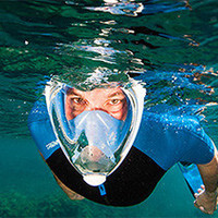 Full Face Snorkeling Mask Water Sports Dry Diving Equipment Scuba Snorkel Mask