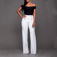 Casual Women Seeveless Bodycon Bandage Two Piece Set Hollow Out Suit Sexy Crop Top+Wild Pants Catsuit Womens Tracksuit