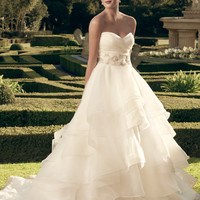 Casablanca Bridal 2174 Layered Skirt Wedding Dress
