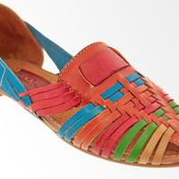 Handmade Sandals Genuine Leather for Casual Dress Wear Comfortable Rainbow Flats Slide