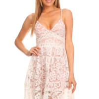 Crotchet Lace Dress