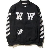 OFF WHITE  Sports Couple Jacket Winter Baseball [11501026764]