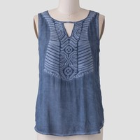 Shoreline View Embroidered Top
