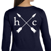 Women's Navy Long Sleeve Schooling Tee from Hunt Club