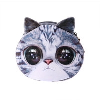 Cat Lady Zippered Coin Purse