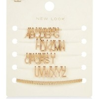 Gold Customisable Letters Necklace