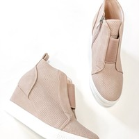 Charlotte Blush Wedge Sneakers