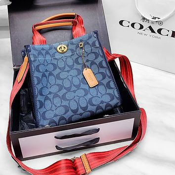 COACH Camera Bag 2020 new shoulder messenger bag blue