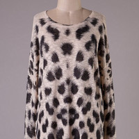 Leopard Print Tunic - Taupe