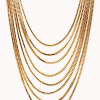 FOREVER 21 Luxe Layered Chain Necklace Gold One