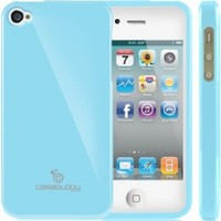 iPhone 4S Case, Caseology® [Daybreak Series] Slim Fit Shock Absorbent Cover [Sky Blue] [Slip Resistant] for Apple iPhone 4S - Sky Blue