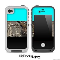 Three-Toned Turquoise Real Camo Skin for the iPhone 5 or 4/4s LifeProof Case