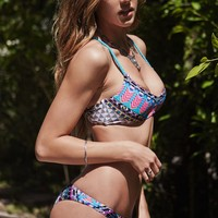 LA Hearts Braided Strappy Back Bralette Bikini Top - Womens Swimwear - Multi
