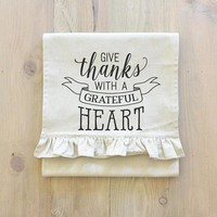 Give Thanks With a Grateful Heart Table Runner