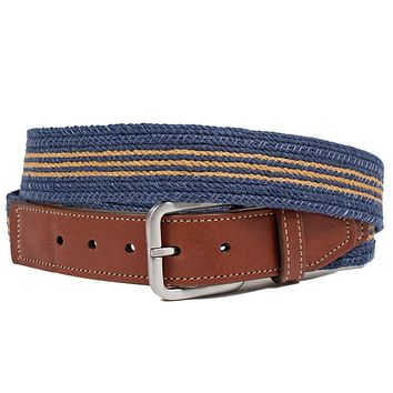 Leather Tab Cotton Braided Belt by Martin Dingman