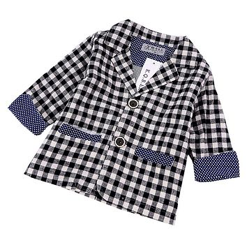 Baby Boy spring autumn coats clothes fashion kids coats Jacket outerwear grid jackets children clothing