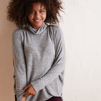 Aerie Plush Turtleneck , Dark Heather
