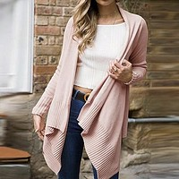 Pink Sweater Women Sweater Cardigans Causal Ladies Sweaters Knitted Sweater Jumper