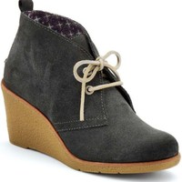 Sperry Top-Sider Harlow Wedge Bootie DarkGreySuede, Size 6M  Women's Shoes