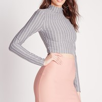 Missguided - Scuba Mini Skirt Nude