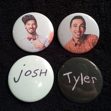 Twenty One Pilots Josh dun and Tyler Joseph Button Set