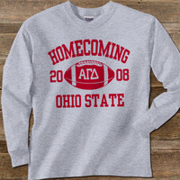 Greek Homecoming Longsleeve Printed Tee | Fraternity shirts, clothing and apparel from SomethingGreek.com