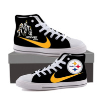 High-top Pittsburgh Steelers Canvas Shoes