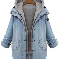 Cupshe Shore Thing Denim Two-piece Coat