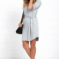 Acts of Love Grey Shirt Dress