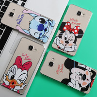 Minnie Mickey Case For Coque iPhone 7 6 6S 5 5S 5C SE for Samsung Galaxy J3 J5 A3 A5 2016 2015 2017 Grand Prime S5 S6 S7 Edge