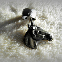 Antique Silver Horse Ear Cuff, Equestrian, Cowgirl, Western, Horse lovers, Ready to ship, Direct to Ship