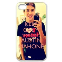 ByHeart austin mahone Hard Back Case Shell Cover Skin for Apple iPhone 4 and 4S - 1 Pack - Retail Packaging - 6067