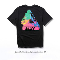 Palace Cotton Tee Round-neck Short Sleeve T-shirts[10057983047]