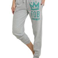 Fall Out Boy Grey Girls Jogger Pants