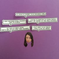 April Ludgate Quotes Sticker Set