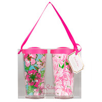 Lilly Pulitzer Insulated Tumbler Set of 2 - Big Flirt / Pink Colony