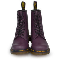 Dr. Martens Women's 1460 W 8-Eye Leather Ankle Boots Purple Smooth