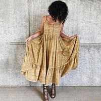Wild Thing Strappy Maxi Dress Animal print Women Dresses Dress Strapless Boho Chic Casual Beach Long Dresses