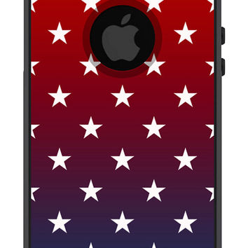 Otterbox iPhone Case Commuter Series iPhone 5 5s Ombre Red Blue USA American Flag Stars Phone Case Protective Plastic Hard Cover OB-1097