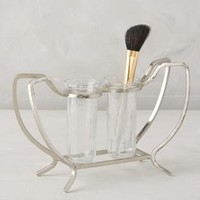 Victoire Makeup Brush Holder by Anthropologie in Silver Size: One Size Bath